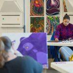 RC Seniors painting in studio - 2018