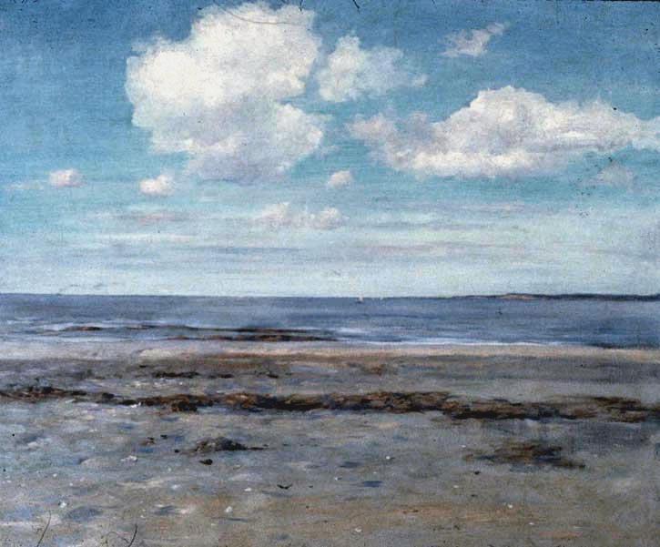 William Merritt Chase, The Deserted Beach, 1907, oil on canvas.