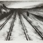 Edward Glannon, Walking the Track, 1976, lithograph on paper.