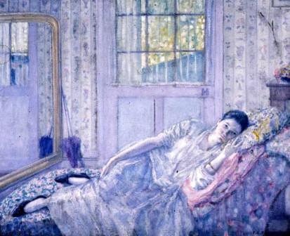 Frederick Carl Frieseke, Rest, ca. 1916, oil on canvas.