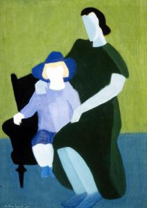 Milton Avery, Child and Mother, 1946, oil on canvas.