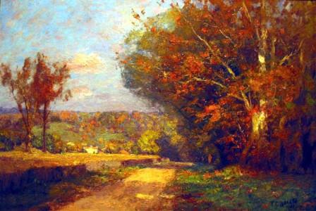 Theodore Clement Steele, Autumn Landscape, 1901, oil on canvas.