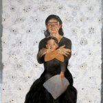 Kukuli Velarde, Letter to My Father,2005,Oil on Steel Plate.