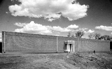 Building that is now the Maier Museum of Art, 1952