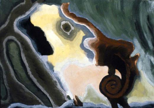 Arthur Dove, Cow #1, 1935, tempera on canvas.
