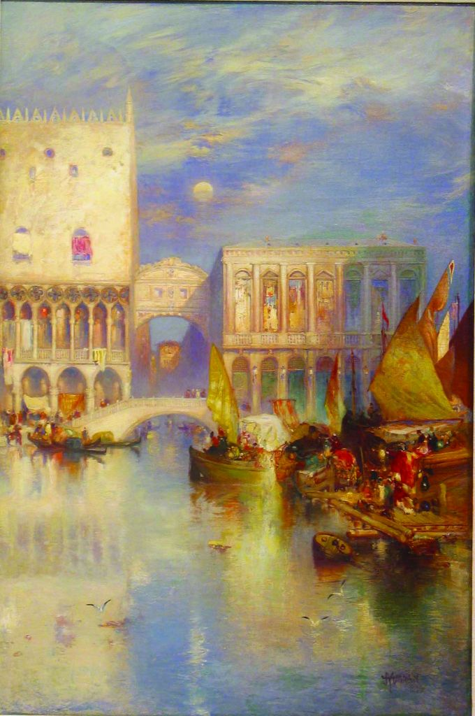 Thomas Moran, View of Venice, 1894, oil on canvas mounted on board.