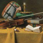 Peto, Violin, Fan, Books