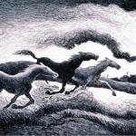 Thomas Hart Benton, Running Horses, 1955.