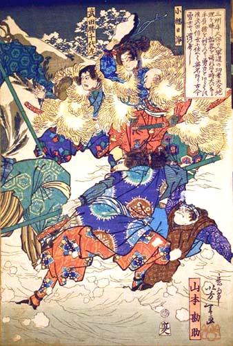 Yoshitoshi (aka Tsukioka Yoshitoshi) (1839 – 1892), unknown, ca. 1850, woodcut on paper.